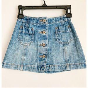 GAP Button Down Jean Skirt